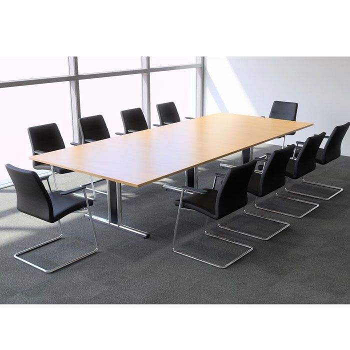 Rectangular Boardroom Table With Mfc Finish Wooden